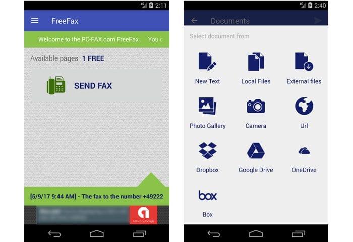 pc fax free fax app