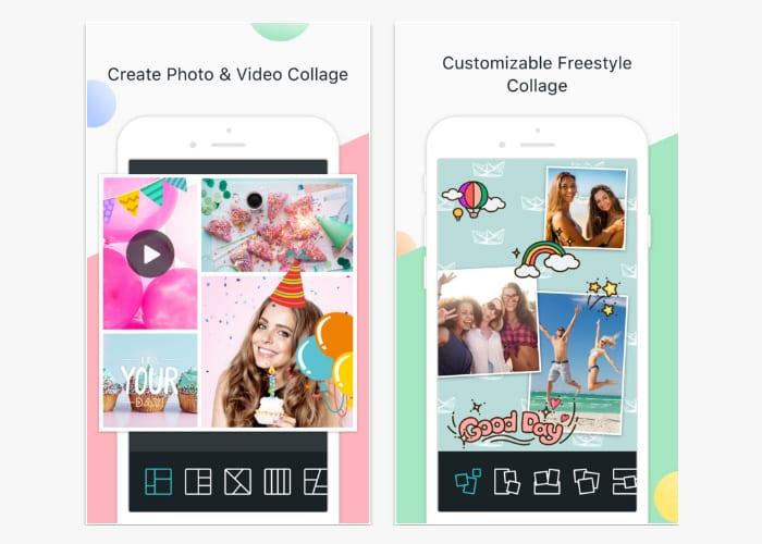 photo grid app screen
