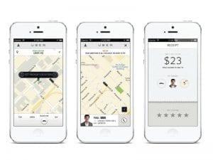 uber the screen shot