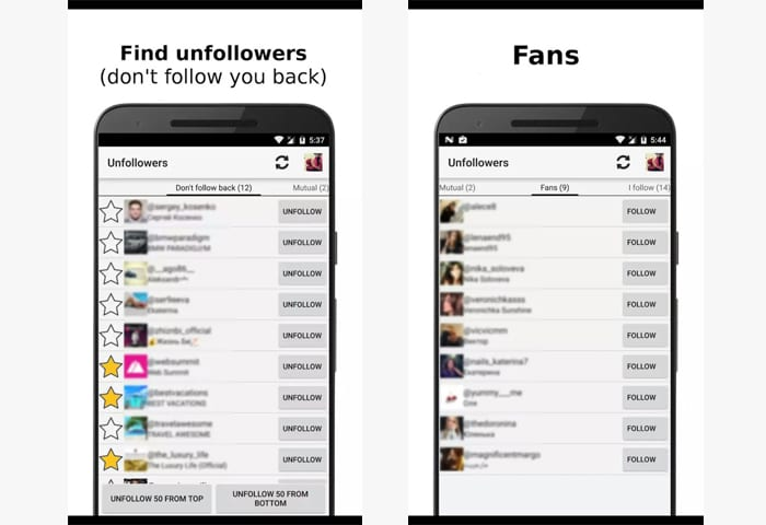 unfollowers app