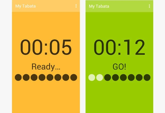 my tabata android app