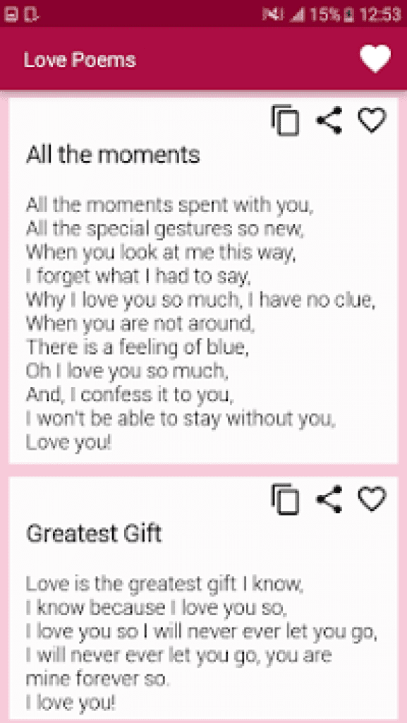 15 Best Love Poems Apps For Android Ios Free Apps For Android