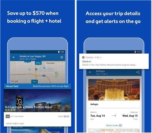 Expedia Hotels, Flights and Cars app