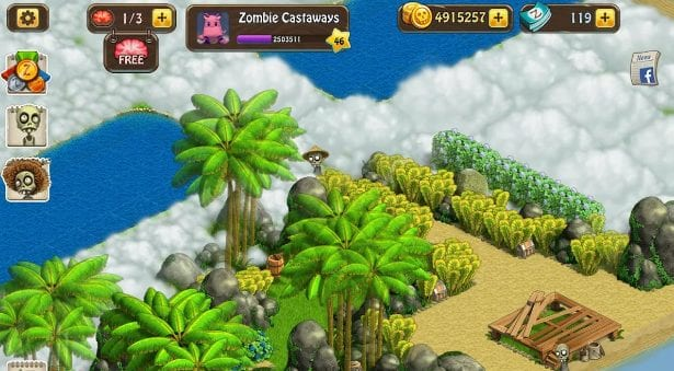 Zombie Castaways app