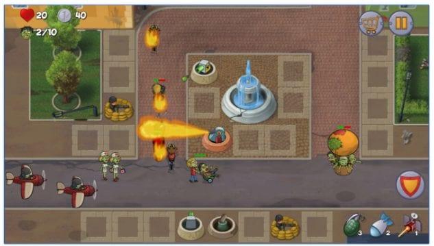 Zombie Town Defense app