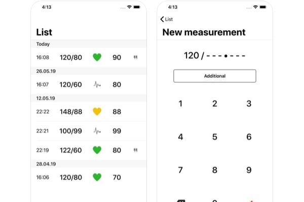 cardio journal app