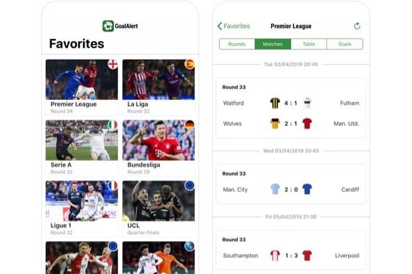 goal alert app