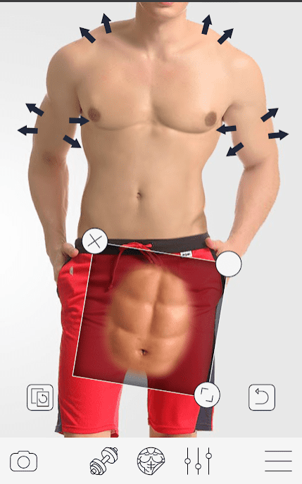 Bodybuilding & Fitness Camera app