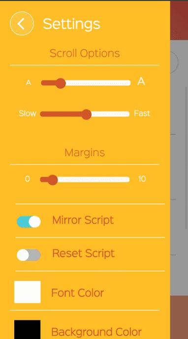Parrot Teleprompter app