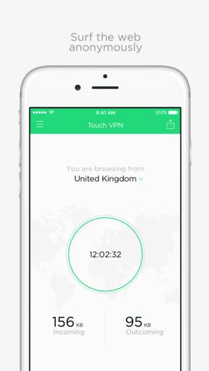 TouchVPN app