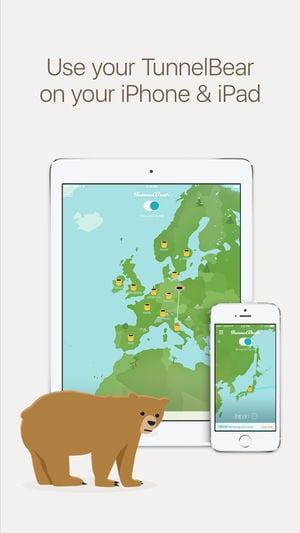 TunnelBear VPN & Wifi Proxy app