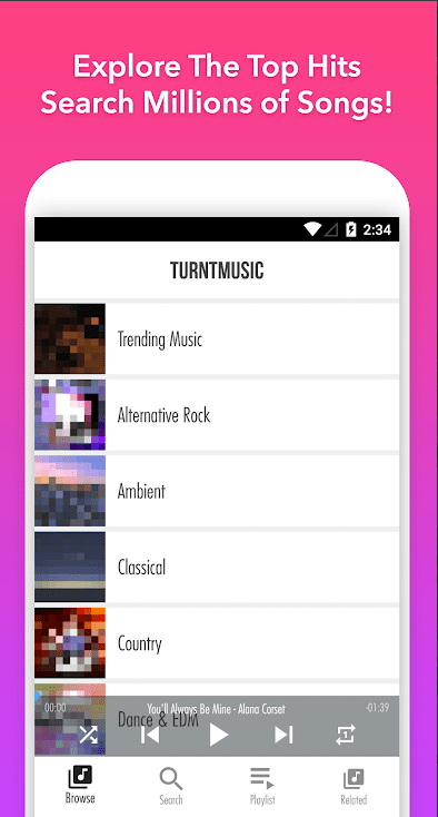 TurntMusic Free Music Streamer