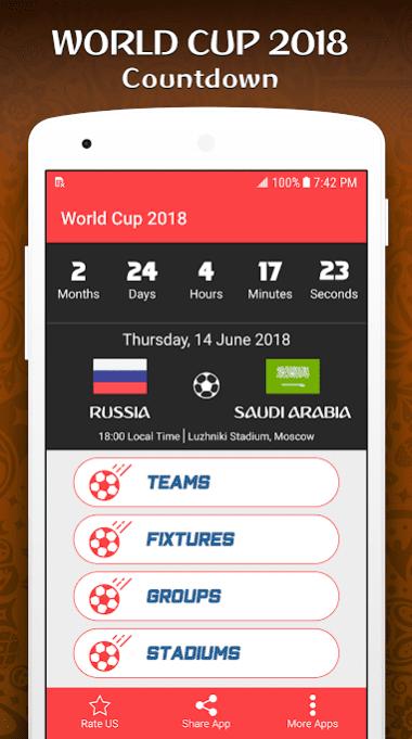 World Cup 2018 app
