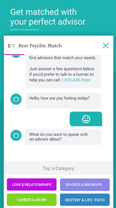 keen psychic reading app
