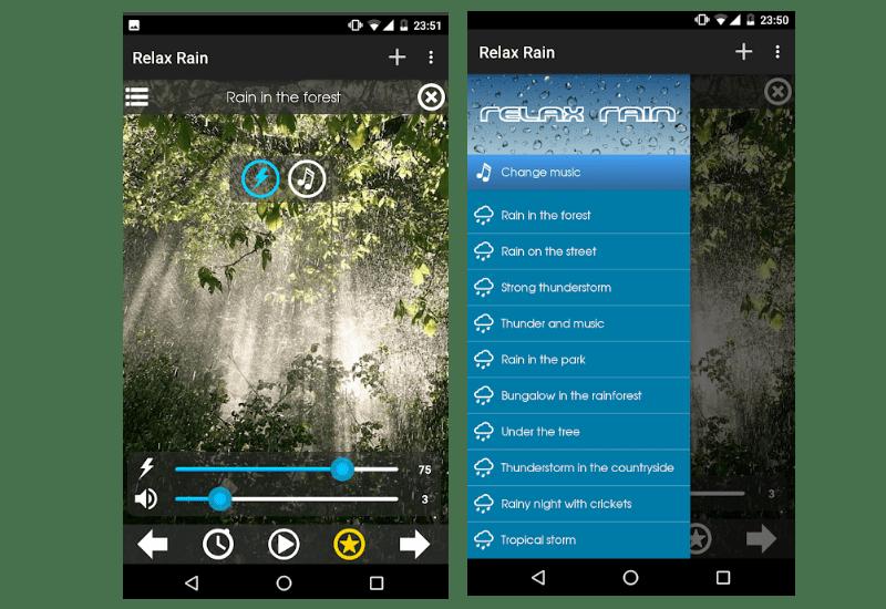 relax rain screen