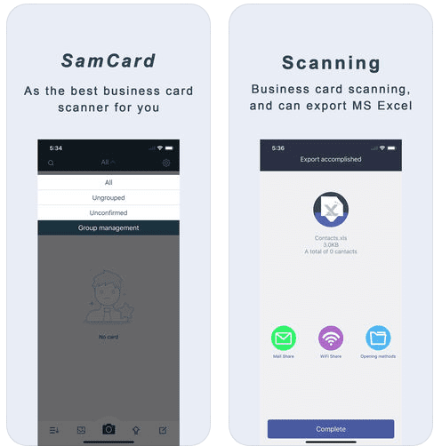 11 best business card scanner apps for android ios free apps for samcard screen colourmoves