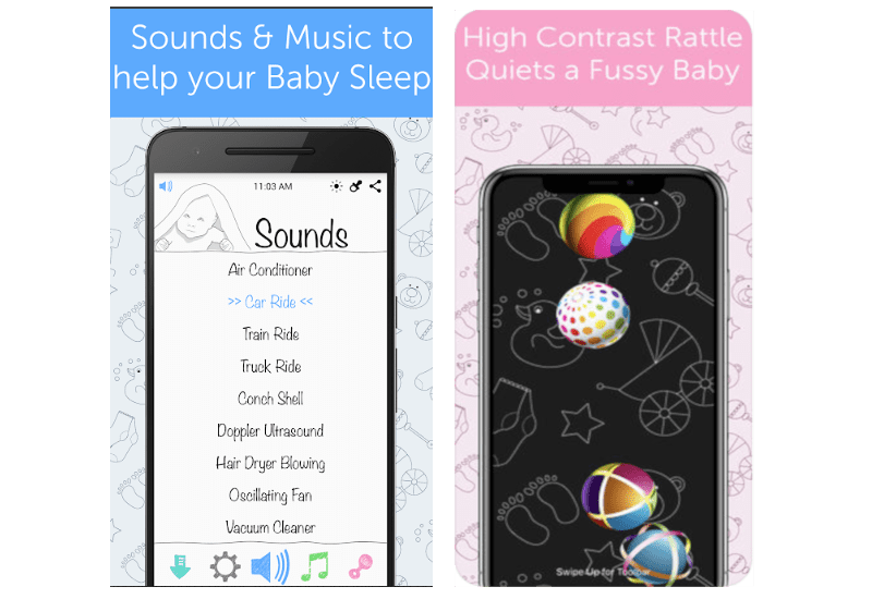 white noise baby screen