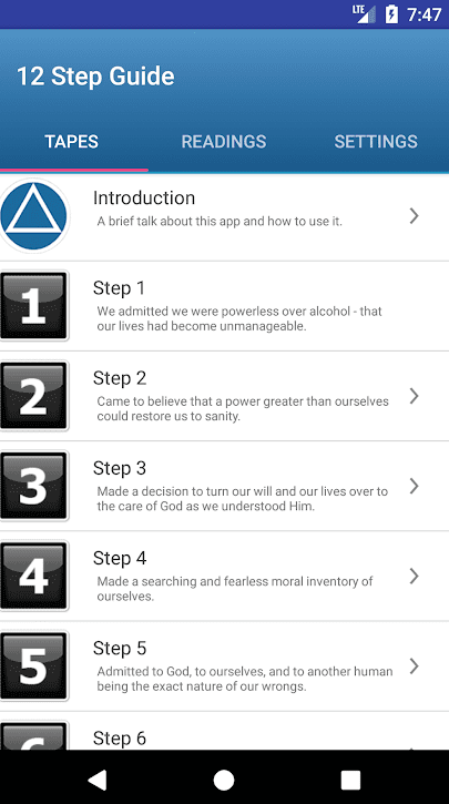 12 Step Guide