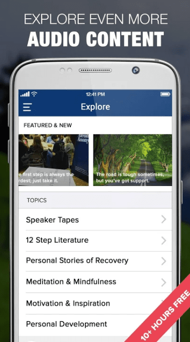 AA Big Book Audio & 12 Steps Recovery Companion app