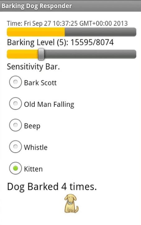 Barking Dog Responder app