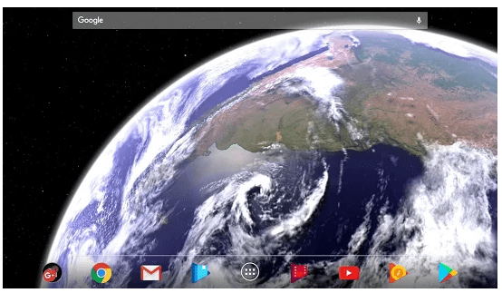 Earth & Moon screen