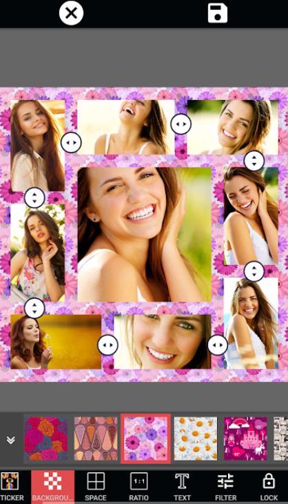 Photo Collage Editor Selfie Camera Filter Sticker app