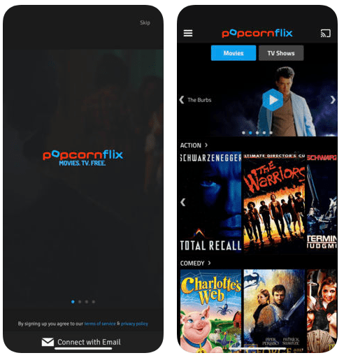Popcornfix screen