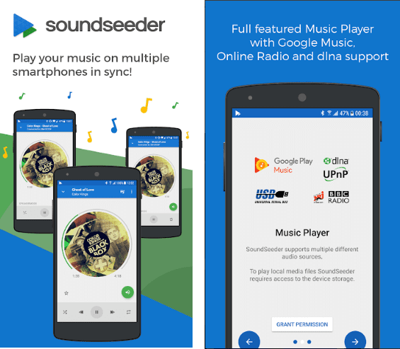 SoundSeeder screen