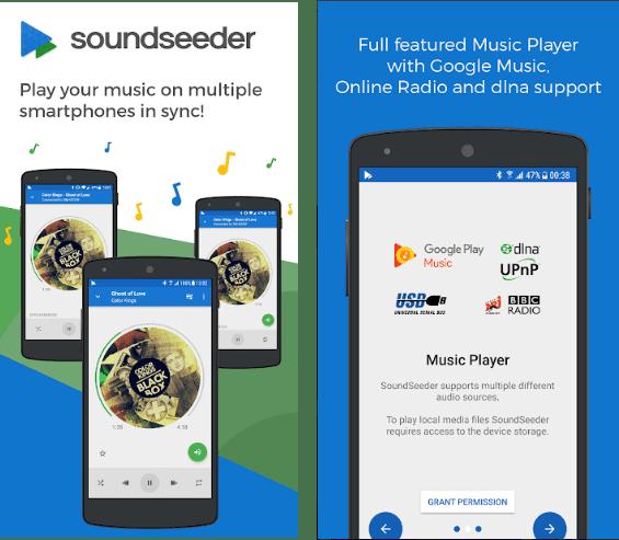 SoundSeeder screen