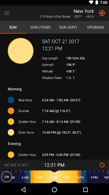 Sun Surveyor Lite app