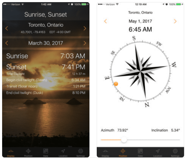 12 Best apps for calculating sunrise and sunset times (Android & iOS