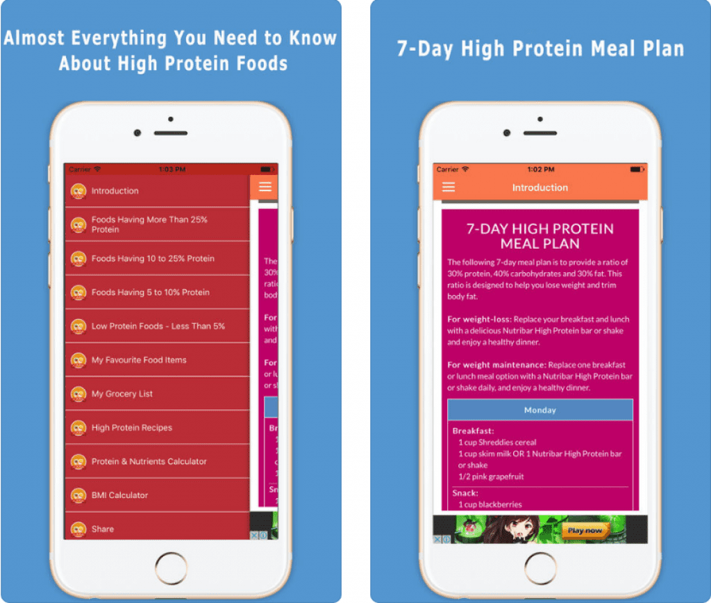 5 Best apps to help you to gain weight | Free apps for Android and iOS