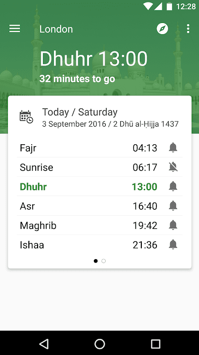 prayer times with quibla