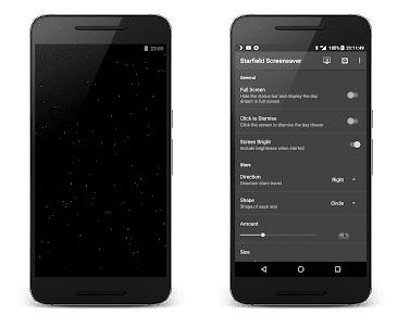 starfield screensaver