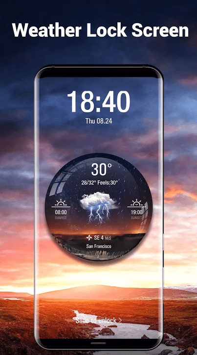 sunrise sunset times widget app