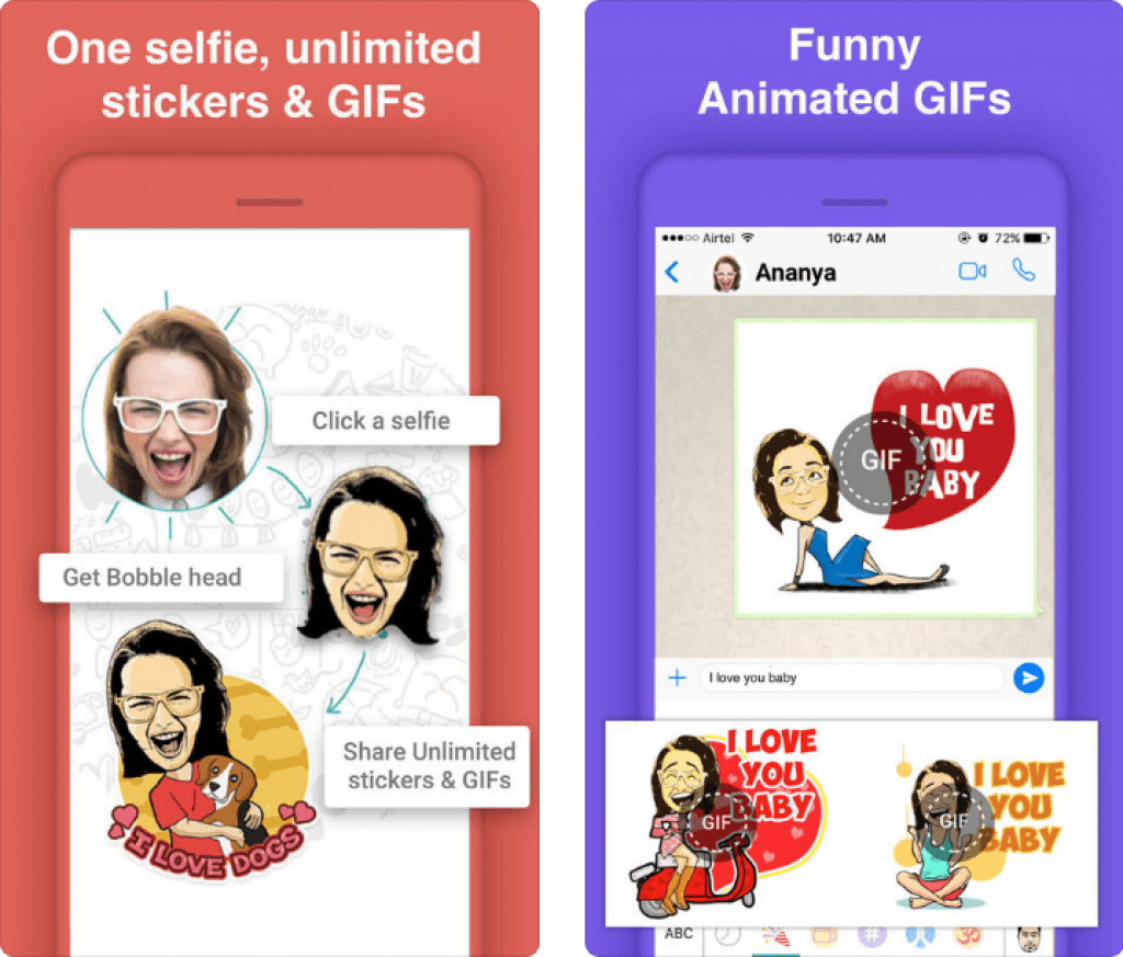 Bobble GIF Stickers Keyboard