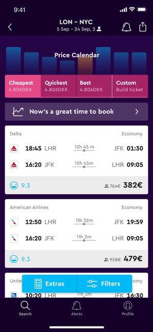 Cheap Flights & Hotels momondo app