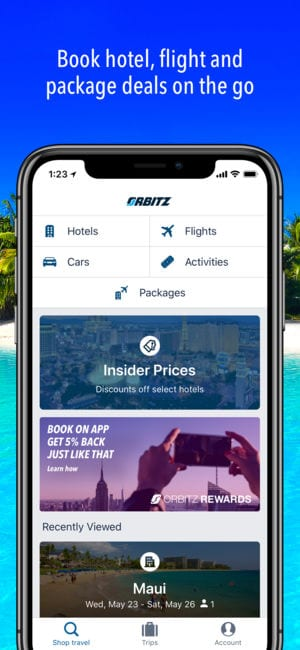 Orbitz Flight, Hotel, Packages 1