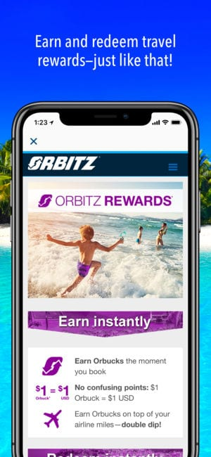 Orbitz Flight, Hotel, Packages app
