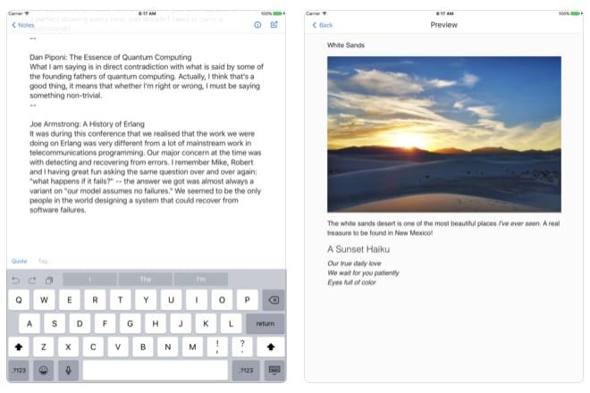 simplenote app