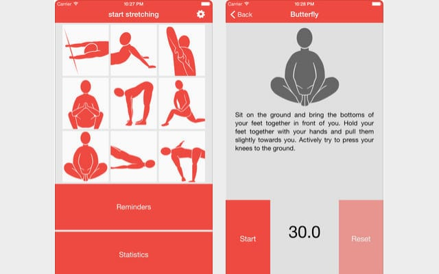start stretching app