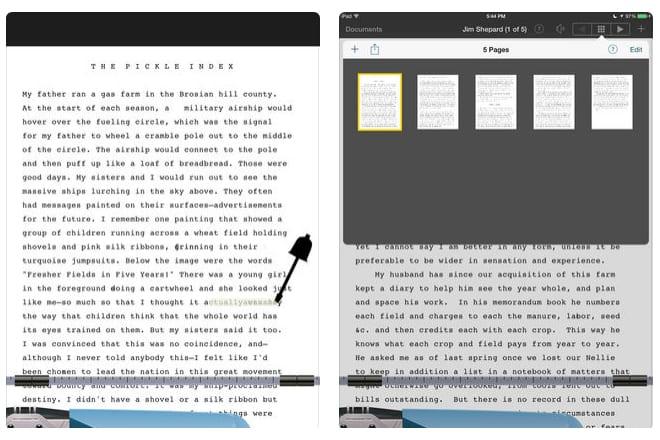 typing writer iPad