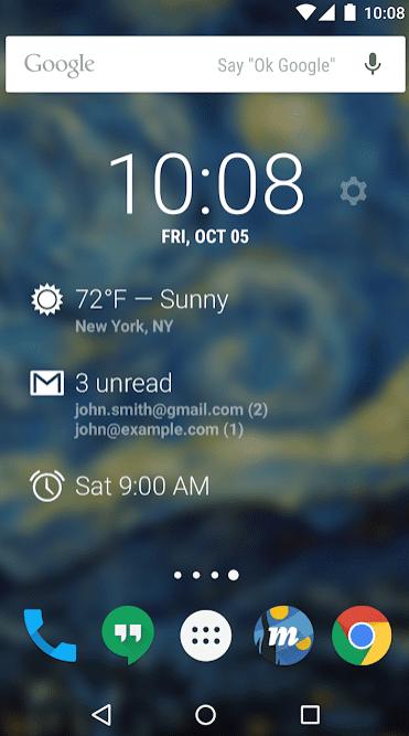 DashClock Widget app