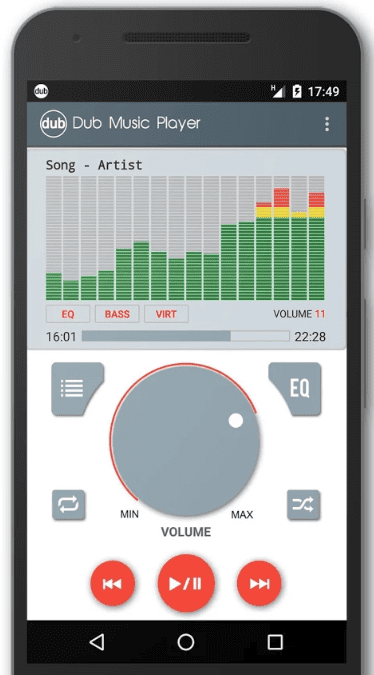 Dub Music Player app