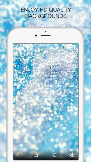Glitter live wallpaper app