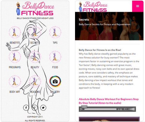 belly dance fitness screen