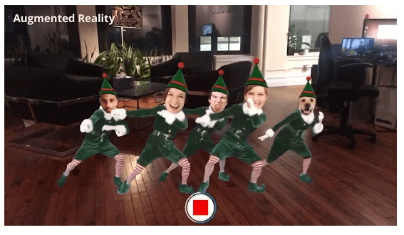 elf yourself screen