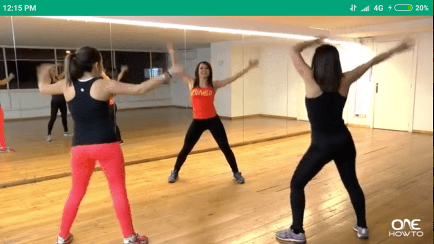 zumba dance screen