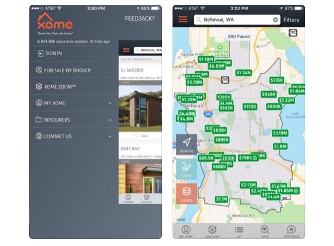 xome app screen