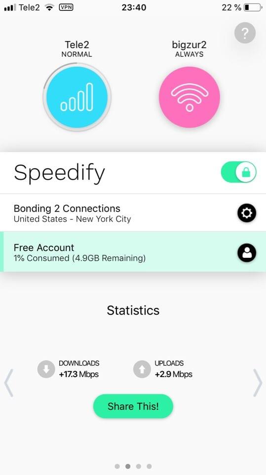 Speedify Bonding VPN 1